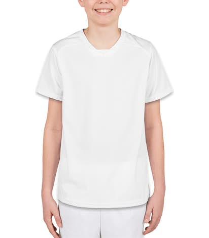High Five Youth Contrast Performance Soccer Jersey - White / White
