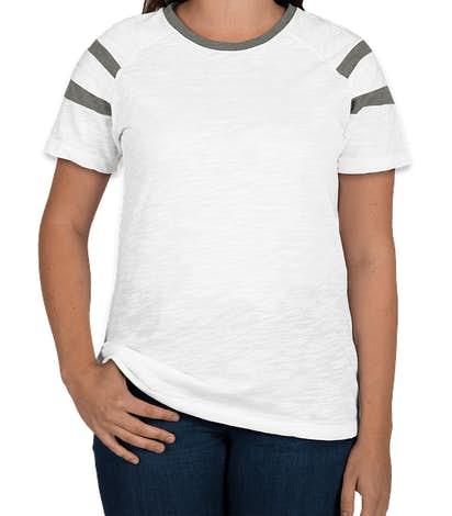 Augusta Women's Fanatic T-shirt - White / Slate / White