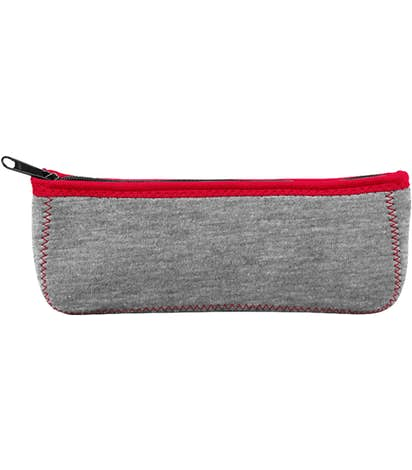Heathered Canoe Pencil Case - Heathered Charcoal / Red / Red