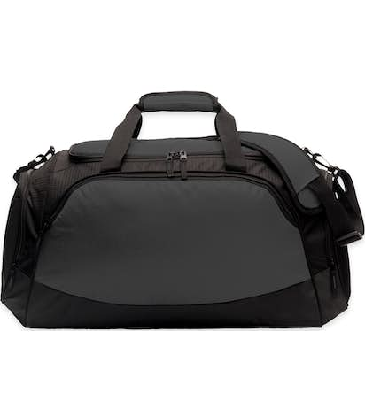 Large Active Duffel Bag - Screen Printed - Dark Charcoal / Black