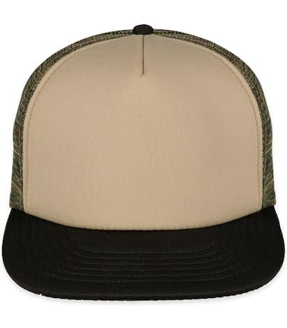 District Camo Flat Bill Snapback Hat - Military Camo