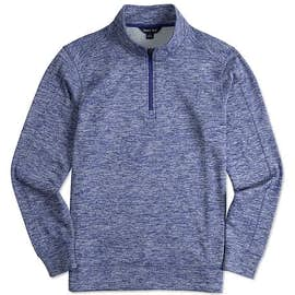 Sport-Tek Electric Heather Performance Quarter Zip Pullover