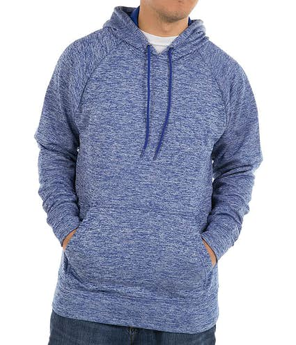 0484710ab1a Sport-Tek Electric Heather Performance Pullover Hoodie - Other View  1