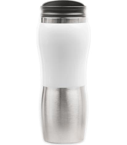 14 oz. Maui Two-Tone Stainless Steel Tumbler - White