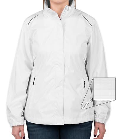 Core 365 Women's Waterproof Ripstop Jacket - White
