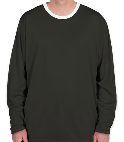 Augusta Colorblock Basketball Shooting Shirt - Slate / White