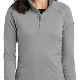 The North Face Women's Mountain Peaks Quarter Zip Fleece Pullover - Color: Mid Grey
