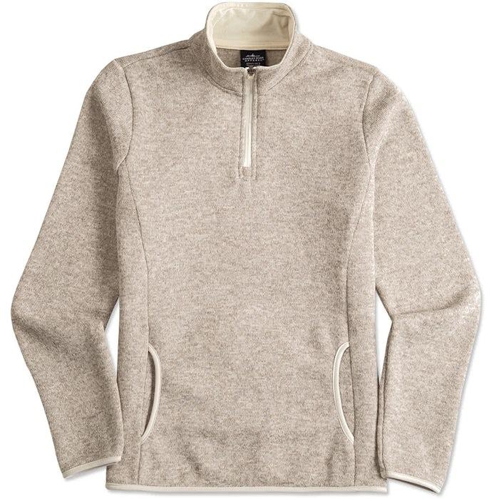Design Custom Charles River Ladies Quarter Zip Sweater Fleece ... 6d75f008e1