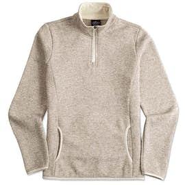 Charles River Women's Quarter Zip Sweater Fleece Pullover