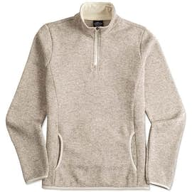 Charles River Women's Quarter Zip Sweater Fleece Pullover
