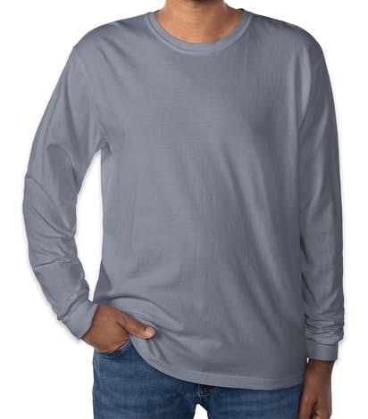 Comfort Colors 100% Cotton Long Sleeve Shirt - Blue Jean