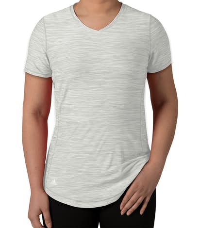 Adidas Women's Tech Heathered Performance Shirt - Mid Grey Heather