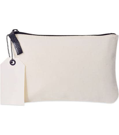 Cotton Zippered Pouch - Natural