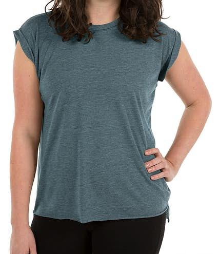 570b7c85e1 Design Custom Printed Bella Ladies Flowy Rolled Cuff T-shirt Online ...