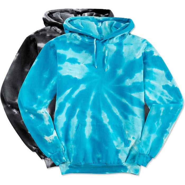 11c96750f2c Design Custom Printed - Port   Company Tie-Dye Pullover Hoodie ...