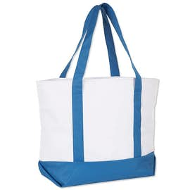 Large Poly Zippered Boat Tote