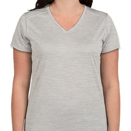 Augusta Women's Tonal Heather V-Neck Performance Shirt - Color: Silver