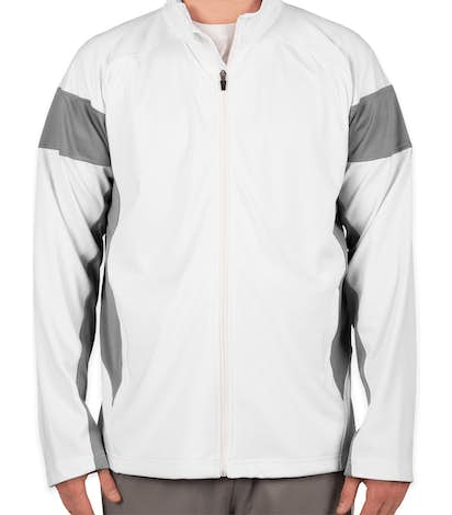 Team 365 Performance Warm-Up Jacket - White / Sport Graphite