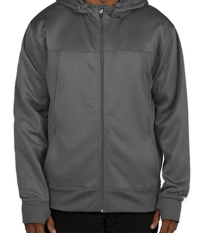 Independent Trading Tech Removable Hood Zip Jacket - Charcoal