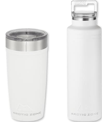 Arctic Zone 20 oz. Copper Vacuum Insulated Drinkware Gift Set - White