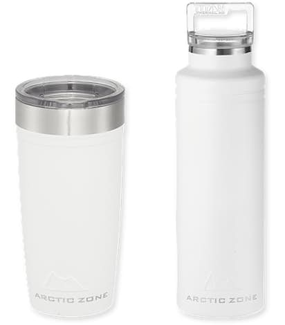 20 oz. Arctic Zone Copper Vacuum Insulated Drinkware Gift Set - White