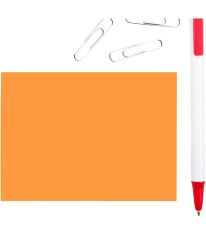 "Neon - 3M Post-it® Note- 4"" x 3"" - 50 sheets/pad - Neon Orange"