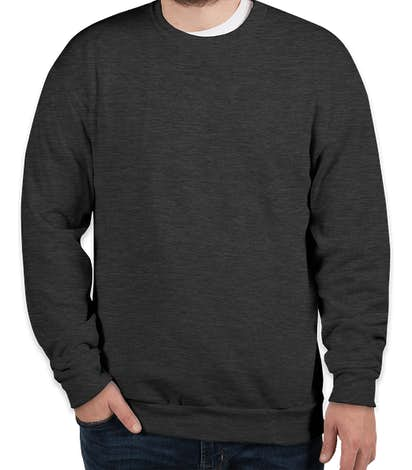 American Apparel Flex Fleece Drop Shoulder Crewneck Sweatshirt - Dark Grey Heather