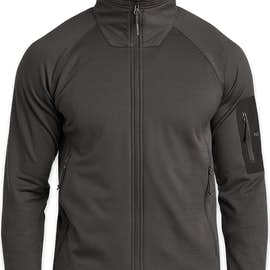The North Face Mountain Peaks Full Zip Fleece Jacket - Color: Asphalt Grey
