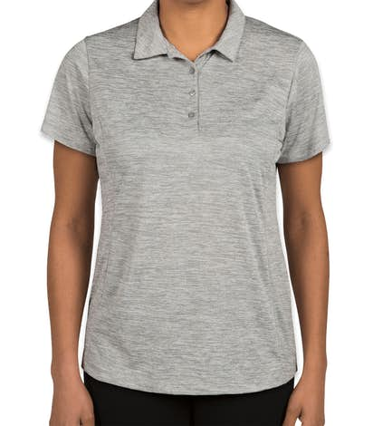 Sport-Tek Women's Electric Heather Performance Polo - Silver Electric