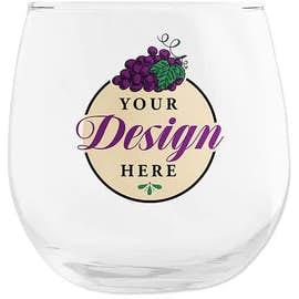 Full Color 16.75 oz. Stemless Wine Glass