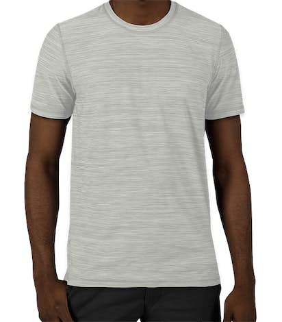 Adidas Tech Heathered Performance Shirt - Mid Grey Heather
