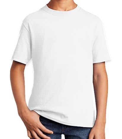 Port & Company Youth Core Cotton T-shirt - White