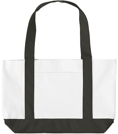 Medium Poly Boat Tote - White / Black