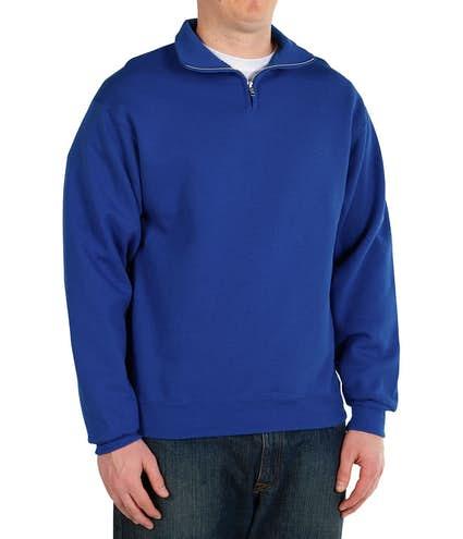 80b1a3ab Custom Jerzees Lightweight Quarter Zip Sweatshirt - Design Quarter ...