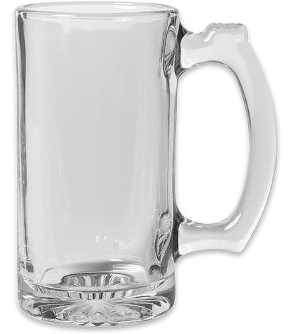 12 oz. Thumbprint Glass Tankard - Clear