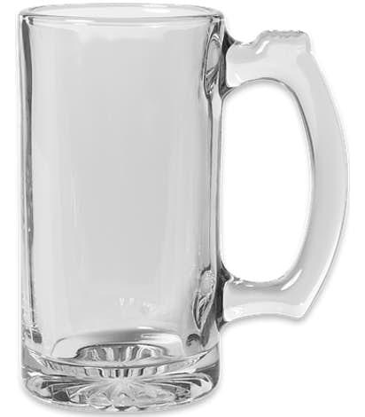 12 oz. Thumbprint Glass Tankard - Clear