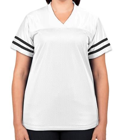 Sport-Tek Women's Replica Football Jersey - White / Black