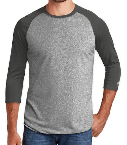 New Era Heritage Blend Raglan T-shirt - Graphite / Light Graphite Twist
