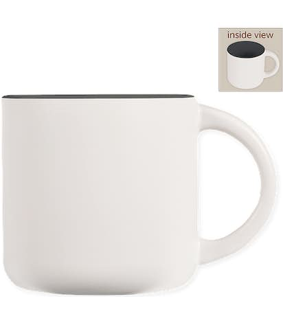 14 oz. Ceramic Two-Tone White Minolo Mug - White / Storm Grey
