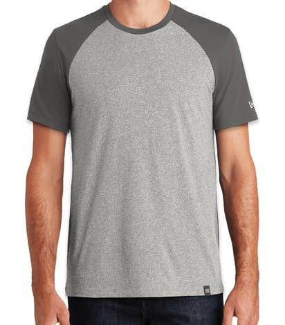 New Era Varsity Heritage Blend T-shirt - Graphite / Light Graphite Twist