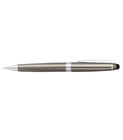 Laser Engraved Cutter & Buck Pacific Stylus Pen Set (black ink) - Graphite