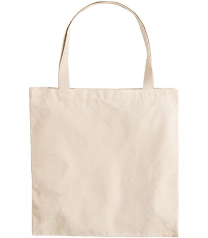 Large Gusseted Midweight 100% Cotton Canvas Tote - Natural