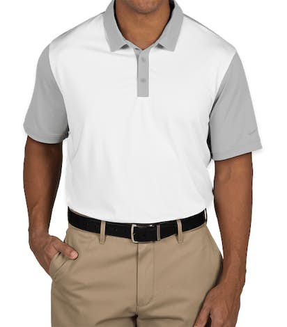 Nike Golf Dri-FIT Colorblock Icon Performance Polo - White / Wolf Grey