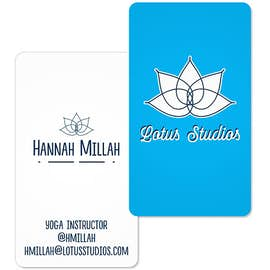 "3.5"" x 2"" Vertical Rounded Corner Business Cards - 14 pt. Cardstock"