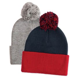 Custom beanies design your own at customink sportsman pom pom knit hat maxwellsz