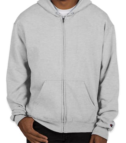 Champion 50/50 Eco Zip Hoodie - Silver Grey