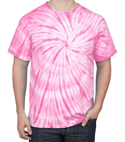 Dyenomite 100% Cotton Tonal Tie-Dye T-shirt - Pink