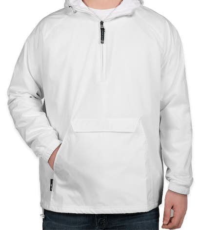 Charles River Classic Hooded Packable Anorak - White