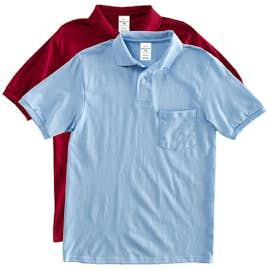 Hanes EcoSmart® 50/50 Jersey Pocket Polo