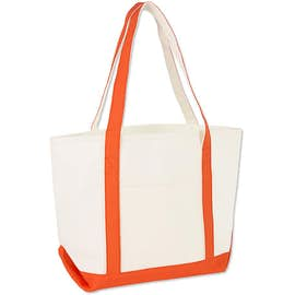 Premium Medium Cotton Boat Tote - Embroidered ... fc302e1dfbe4c